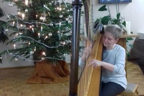 Die vielseitige Harfenistin Krystyna  (1)
