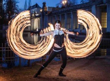 Feuershow der Elemente Berlin 2020