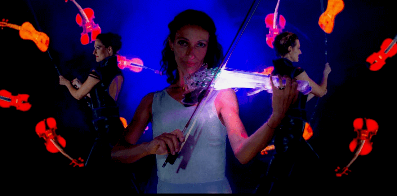 Violin on Light and Fire